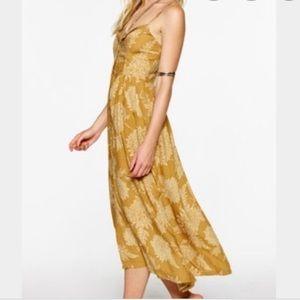 Novella Royale Rose Dress in Gold Dahlia Print XS